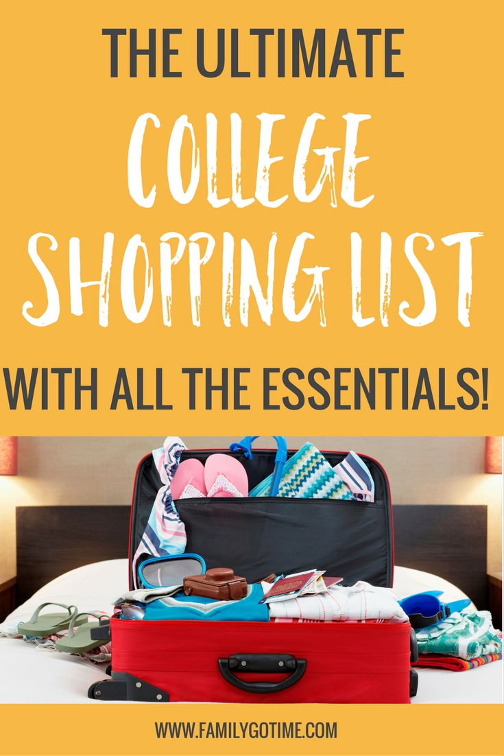 Don't let the task of packing for college overwhelm you! Here is a list of the absolute essential items for your student's college shopping list.